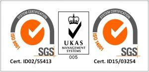 logo combaint 9001 dan 14001 sgl